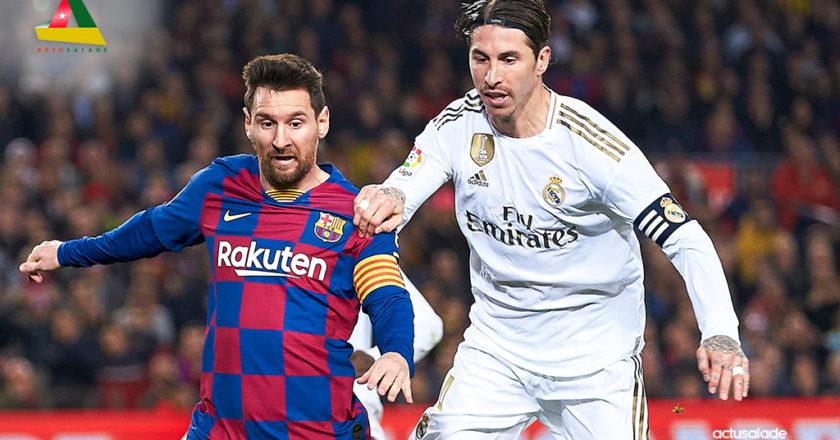 Lionel Messi et Sergio Ramos lors d'une rencontre Barcelone et Réal Madrid