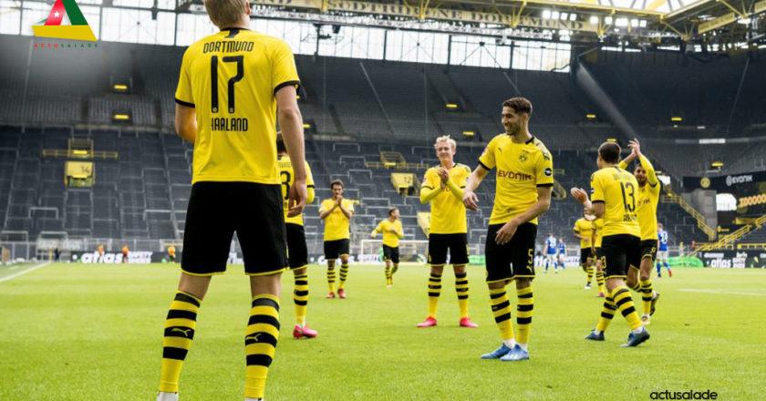 Photo des joueurs de Dortmund