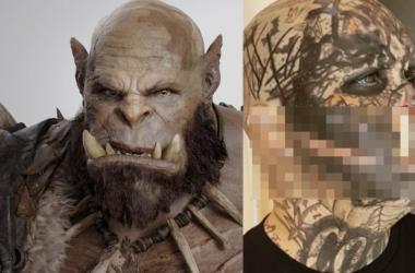 Cet homme de 41 ans a des défenses géantes implantées pour ressembler à une créature fictive