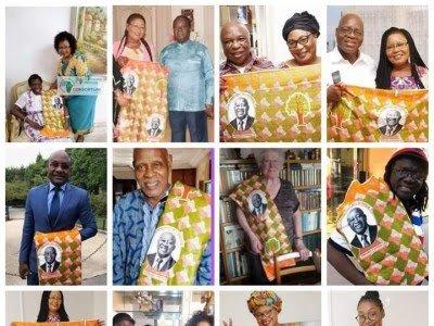 Pour célébrer le retour de Laurent Gbagbo, un pagne spécial à son effigie est confectionné
