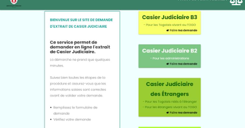 Togo / Casier judiciaire : voici le site à utiliser