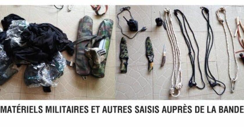 Togo : grosse prise par la Police Nationale, des objets militaires saisis