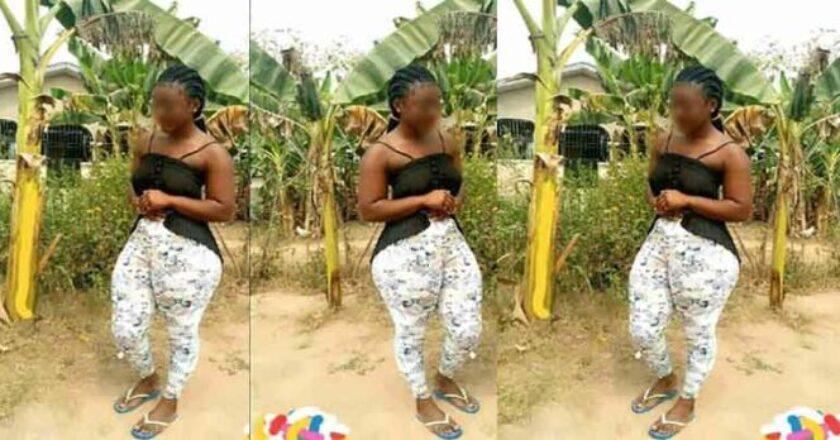 en visite chez ses parents, elle a été vite expulsée car sa forme sème le trouble chez les hommes du village