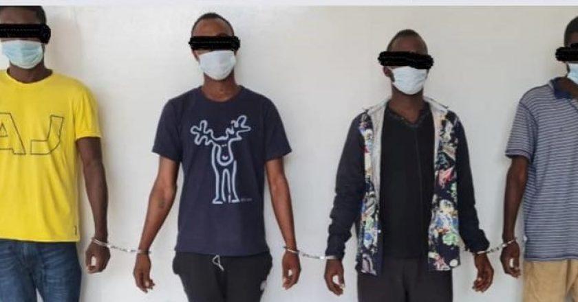 encore 04 malfrats résidents au Ghana prirent en étau par la police togolaise